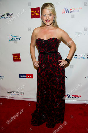 Rebecca Faulkenberry attends Elton John's AIDS Foundation's 11th annual Enduring Vision benefit on in New York