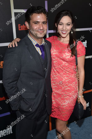 Stock Photo of Mark Gagliardi, left, and Juliana Hansen arrive at Entertainment Weekly's Annual Comic-Con Closing Night Celebration at the Hard Rock Hotel, in San Diego