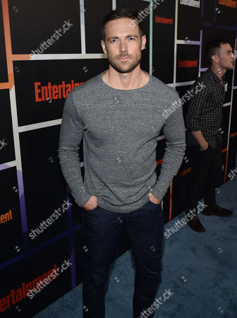 Dylan Bruce arrives at Entertainment Weekly's Annual Comic-Con Closing Night Celebration at the Hard Rock Hotel, in San Diego