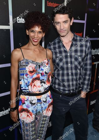 Marta Cunningham, left, and James Frain arrive at Entertainment Weekly's Annual Comic-Con Closing Night Celebration at the Hard Rock Hotel, in San Diego