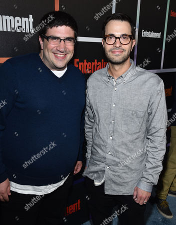 Edward Kitsis, left, and Adam Horowitz arrive at Entertainment Weekly's Annual Comic-Con Closing Night Celebration at the Hard Rock Hotel, in San Diego