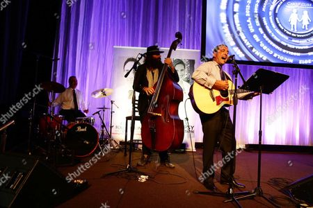 The Andrew Gumpert band seen at the Epilepsy Foundation of Greater Los Angeles Care and Cure benefit honoring Patrick Whitesell, WME | IMG Co-CEO, in Beverly Hills, CA