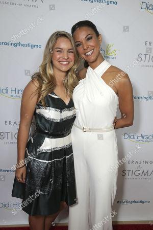 Kaya McKenna Callahan and Eva LaRue seen at Erasing the Stigma Leadership Awards 20th Anniversary on in Beverly Hills, CA