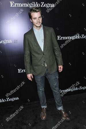Stock Photo of Nathan Keyes arrives at the Ermenegildo Zegna Boutique opening on in Beverly Hills, Calif