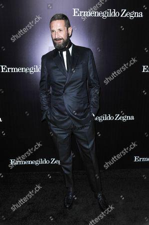 Stefano Pilati arrives at the Ermenegildo Zegna Boutique opening on in Beverly Hills, Calif