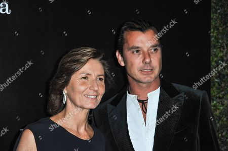 Stock Image of Anna Zegna, left, and Gavin Rossdale arrives at the Ermenegildo Zegna Boutique opening on in Beverly Hills, Calif