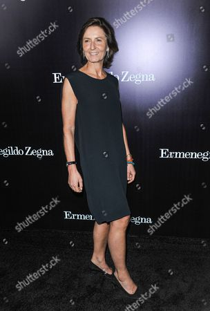 Anna Zegna arrives at the Ermenegildo Zegna Boutique opening on in Beverly Hills, Calif