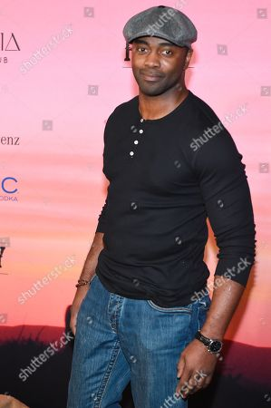 Curtis Martin arrives at the ESPN Super Bowl XLIX Party on in Scottsdale, Ariz