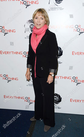 Lucy Fleming poses at Everything or Nothing - The Untold Story of 007 at Odeon West End on in London