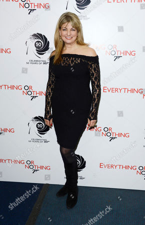Carole Ashby poses at Everything or Nothing - The Untold Story of 007 at Odeon West End on in London