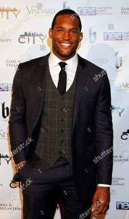 Lawrence Saint-Victor seen at Fame and Philanthropy's Celebrates the 86th Academy Awards on at The Vineyard Beverly Hills in Los Angeles, CA