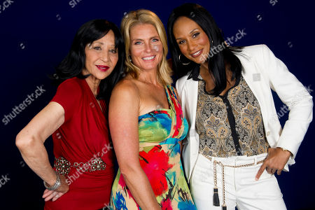 "This photo shows models China Machado, lfrom left, Kim Alexis and Beverly Johnson in New York. The models appear in a new documentary called ""About Face"" premiering on HBO on July 30. The film looks at topics like each model's career, aging and our culture's obsession with youth"