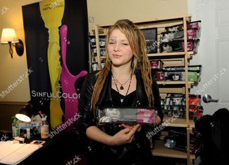 Musician Crystal Bowersox visits the SinfulColors nail bar at the Fender Music lodge during the Sundance Film Festival, in Park City, Utah