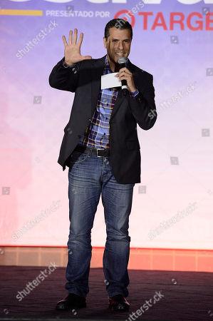 Marco Antonio Regil onstage at Festival People en Espanol 2013, on at Henry B. Gonzalez Convention Center in San Antonio, Texas