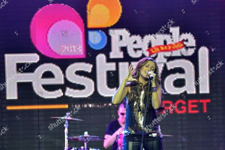 Singer America Sierra performs onstage at Festival People en Espanol 2013, on at Henry B. Gonzalez Convention Center in San Antonio, Texas
