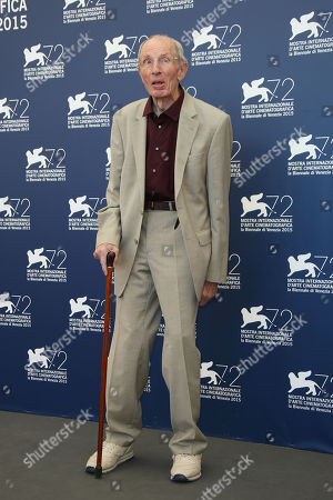 Heinz Lieven poses during the photo call for the film Remember at the 72nd edition of the Venice Film Festival in Venice, Italy, . The 72nd edition of the festival runs until Sept. 12