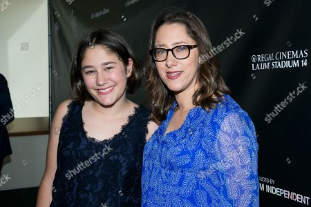 """Imogene Wolodarsky, left, and Maya Forbes attend the Los Angeles Premiere of """"Infinitely Polar Bear"""" held at Regal Cinemas L.A. LIVE, in Los Angeles"""