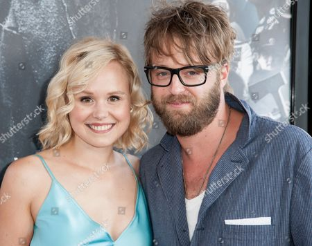 "Alison Pill, left, and Josh Leonard arrive at the Los Angeles Film Festival Opening Night Gala - ""Snowpiercer"" on in Los Angeles"