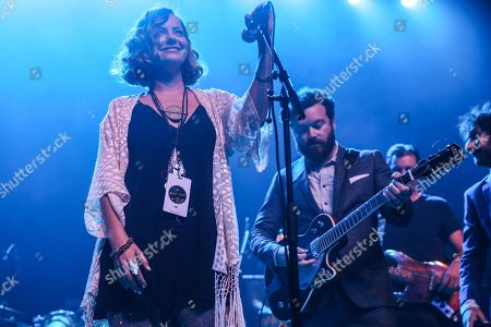 Bijou Phillips, left, and Danny Masterson perform at Fleetwood Mac Fest at The Fonda, in Los Angeles
