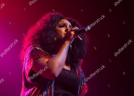 Marsha Ambrosius with Floetry performs during the Floetry Reunion Tour at Center Stage, in Atlanta