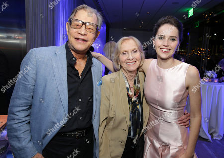 """Michael York, Felicity Jones and Eva Marie Saint seen at Focus Features Los Angeles premiere of """"The Theory of Everything"""", in Beverly Hills"""