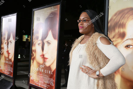 Mya Taylor seen at Focus Features Los Angeles premiere of 'The Danish Girl' at Regency Village Theatre, in Los Angeles, CA