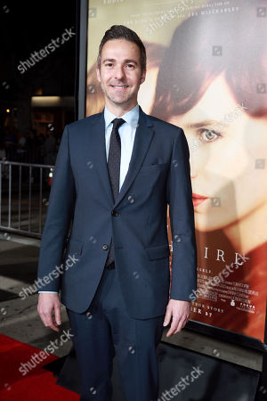 Author David Ebershoff seen at Focus Features Los Angeles premiere of 'The Danish Girl' at Regency Village Theatre, in Los Angeles, CA