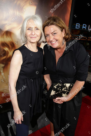 Stock Image of Makeup Artist Jan Sewell and Production Designer Eve Stewart seen at Focus Features Los Angeles premiere of 'The Danish Girl' at Regency Village Theatre, in Los Angeles, CA