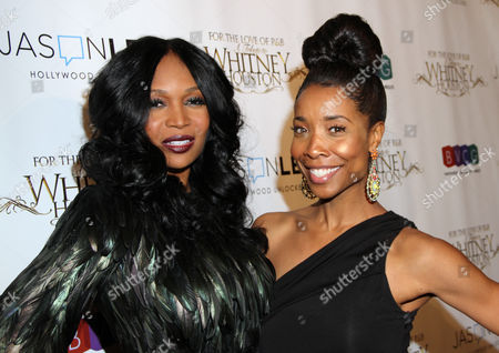 Stock Picture of Marlo Hampton, left, and Kita Williams attend For the Love of R&B - A Tribute to Whitney Houston at Tru Hollywood, in Los Angeles