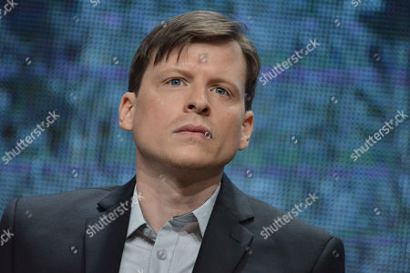 """Kevin Rankin speaks on stage during the """"Gracepoint"""" panel at the The FOX 2014 Summer TCA held at the Beverly Hilton Hotel, in Beverly Hills, Calif"""
