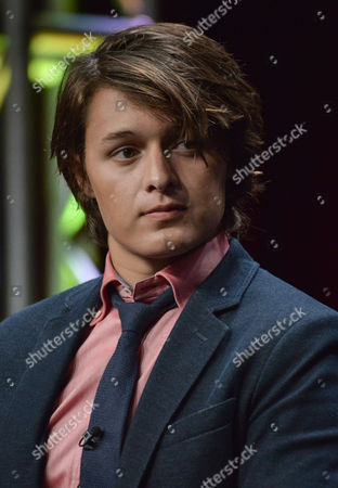 """Nolan Sotillo speaks on stage during the """"Red Band Society"""" panel at the The FOX 2014 Summer TCA held at the Beverly Hilton Hotel, in Beverly Hills, Calif"""