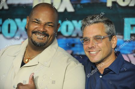 Kevin Michael Richardson and Richard Appel attend the FOX All-Star Party, in West Hollywood, Calif