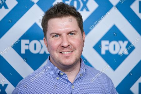 Nick Swardson arrives at the Fox All-Star Party, at the Langham Hotel in Pasadena, Calif