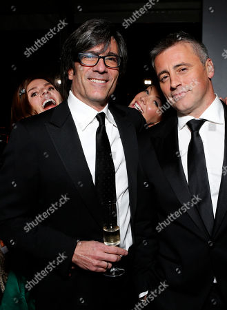 From left, Melanie Spiller, director Michael Spiller, Andrea Anders, and actor Matt LeBlanc attend the Fox Golden Globes Party, in Beverly Hills, Calif