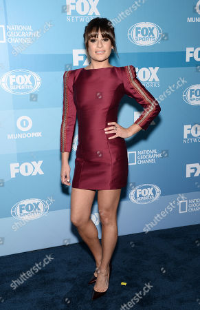 Lea Michelle arrives at the Fox Network 2015 Programming Upfront at Wollman Rink in Central Park, in New York