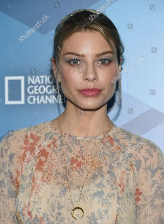 Lauren German attends the FOX Networks 2016 Upfront Presentation Party at Wollman Rink in Central Park, in New York