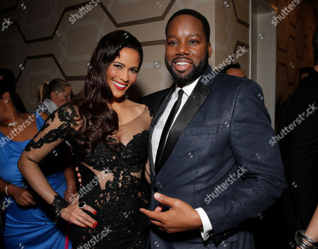 """Stock Photo of Paula Patton and Director/Producer David Talbert attend Fox Searchlight's Los Angeles Premiere of """"Baggage Claim"""", on in Los Angeles"""