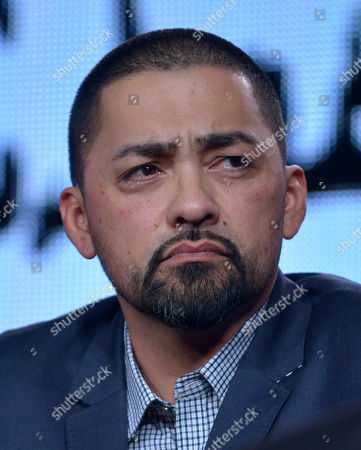 """Stock Picture of Rey Gallegos is seen during the """"Gang Related"""" panel at the FOX Winter 2014 TCA,, at the Langham Hotel in Pasadena, Calif"""