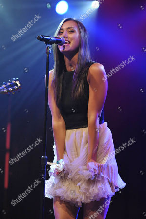 Dia Frampton performs at the Friend Movement Anti-Bullying Benefit Concert at the El Rey Theatre on in Los Angeles