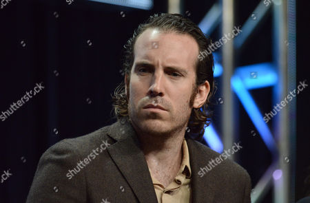 Thomas M. Wright speaks on stage during the The Bridge panel at the The FX 2014 Summer TCA held at the Beverly Hilton Hotel, in Beverly Hills, Calif
