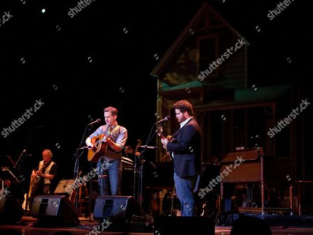 Guitarist Bryan Sutton and Casey Campbell performed as part of Garrison Keillor's live radio show A Prairie Home Companion at The Fox Theatre on in Atlanta, Ga