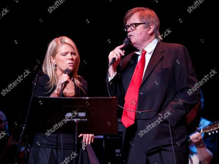 Singer/Songwriter Lynn Peterson and Garrison Keillor performed as part of the live radio show A Prairie Home Companion at The Fox Theatre on in Atlanta, Ga
