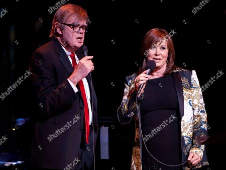 Singer/Songwriter Suzy Bogguss and Garrison Keillor performed as part of the live radio show A Prairie Home Companion at The Fox Theatre on in Atlanta, Ga