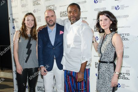 Olivia Wilde, Joe Hall, Lee Daniels, and Katherine Oliver attend the Ghetto Film School 10th Annual Spring benefit at The Standard Biergarten on in New York
