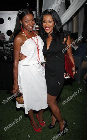 Actors Gabrielle Dennis and Denyce Lawton attends Girlfriend Confidential LA Premiere Episode Party at Xen Lounge, in Studio City, California
