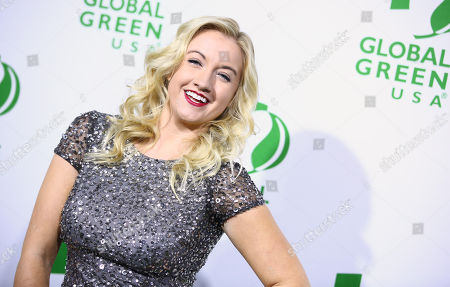 Laura Linda Bradley arrives at the Global Green USA's 12th Annual Pre-Oscar Party at the Avalon Hollywood, in Los Angeles
