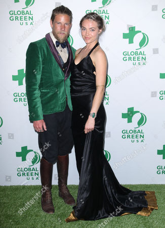 Stock Image of Jeff Garner, left, and Ashley Norris arrive at the Global Green USA's 12th Annual Pre-Oscar Party at the Avalon Hollywood, in Los Angeles