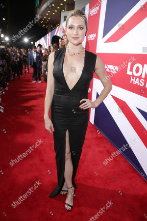 Katherine Bailess seen at Grammercy Pictures Present the Los Angeles Premiere of 'London Has Fallen' at ArcLight Hollywood, in Hollywood, CA