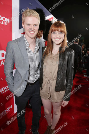 Ryan Cargill and Kennedy Lea Slocum seen at Grammercy Pictures Present the Los Angeles Premiere of 'London Has Fallen' at ArcLight Hollywood, in Hollywood, CA