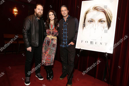 Exclusive - Director Jason Zada, Brittany Furlan and Taylor Kinney seen at Gramercy Pictures Special screening of 'The Forest', in West Hollywood, CA